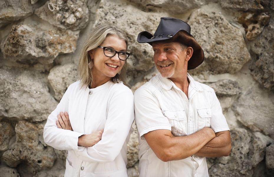 "Dr. Korman and husband, Brian Korman,  ""The Keto Cowboy"""