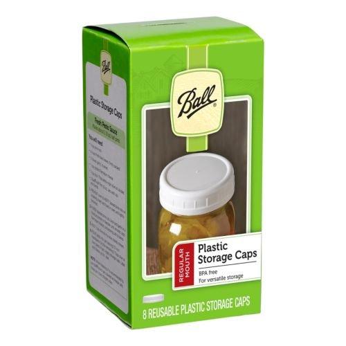 Ball Regular Mouth Jar Storage Caps 8 count