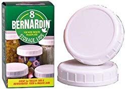 Bernardin Plastic Mason Jar Caps  Wide Mouth