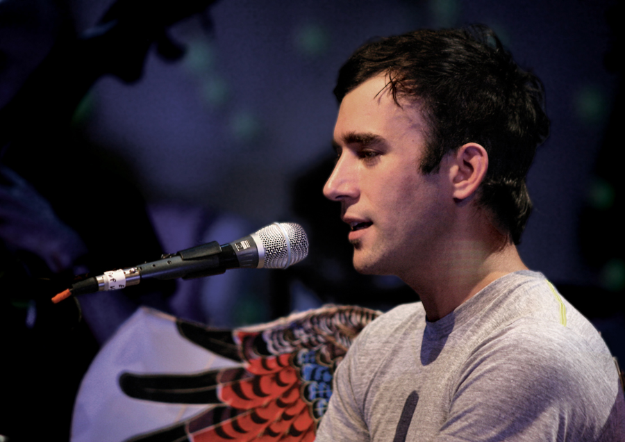 I was an assistant editor at WebMD when I first moved to New York City in 2007, but I also freelanced for  Paste . Sufjan Stevens was performing his symphony, The  BQE , at the Brooklyn Academy of Music, including an encore performance of his studio music. The publicist didn't have any more spots available for the show, so she invited me to the dress rehearsal. Two other photographers and I took pictures of the entire performance in a completely empty theater.