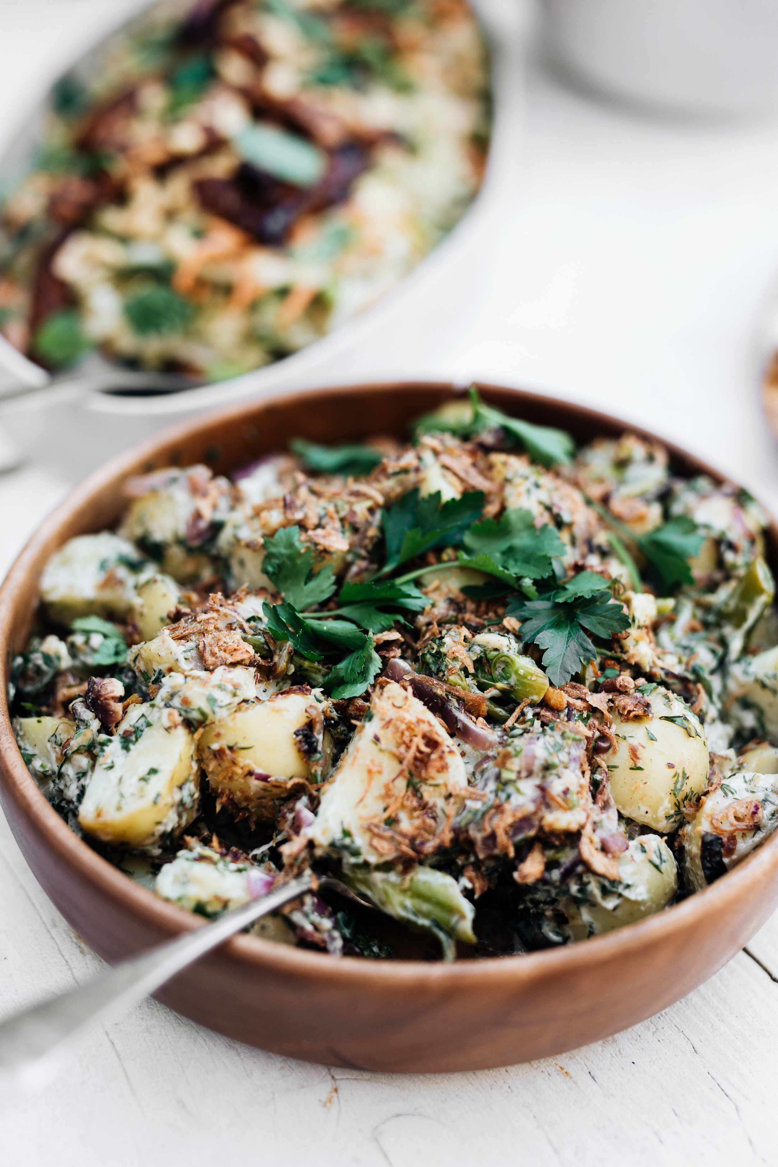 Vegan Potato and Broccolini Salad - Vegan, gluten free, leftover friendlyServes 8 as a side