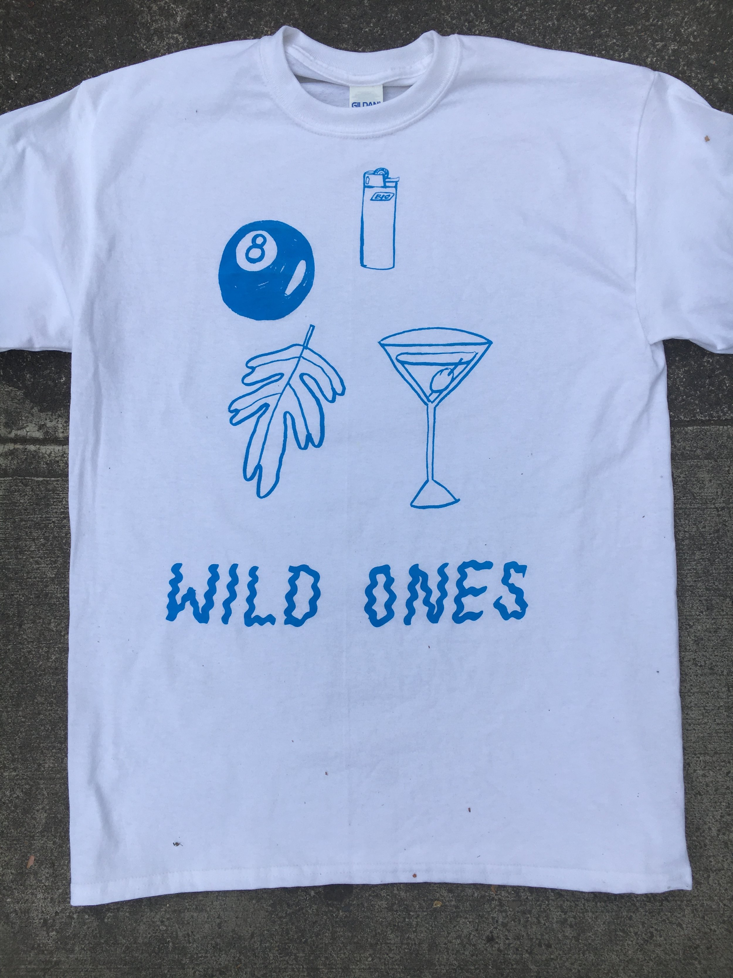 """Custom mixed """"matisse blue"""" print for Wild Ones from Portland, OR"""