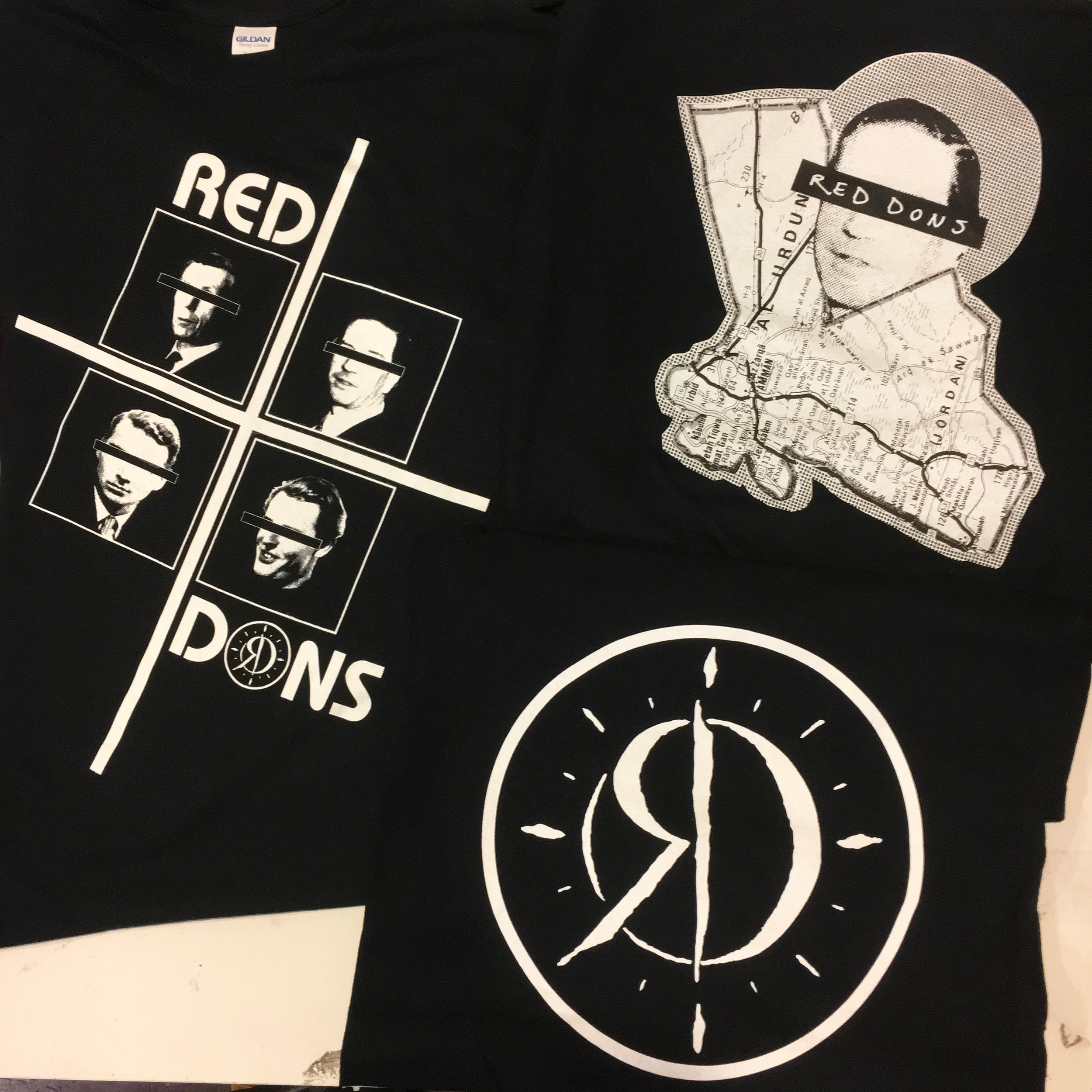 3 designs printed for Red Dons from Portland, OR