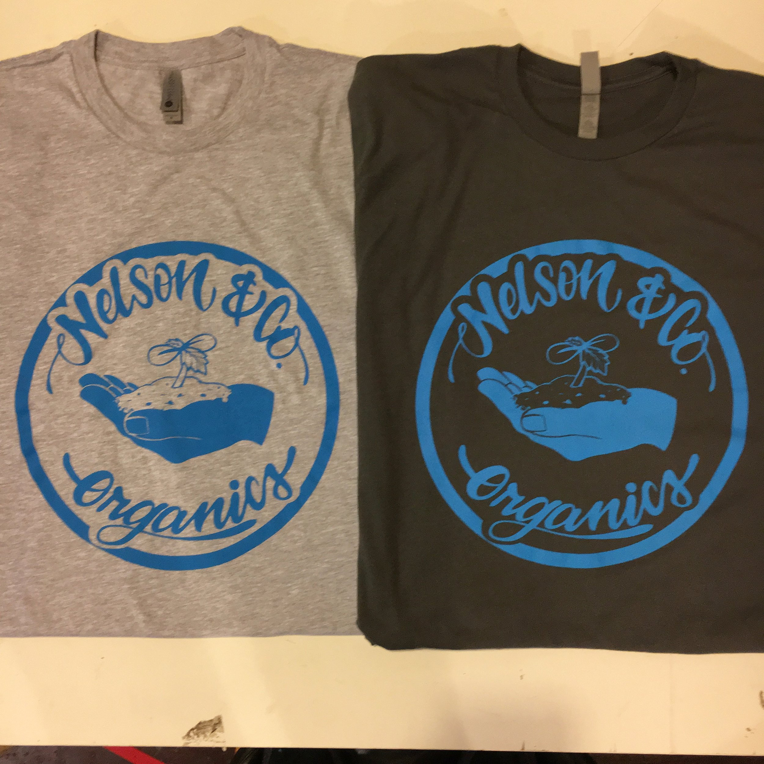 1 color print for Nelson & Co. Organics from Portland, OR