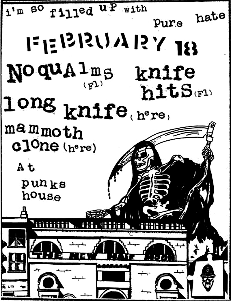 Cut & paste flyer for a house show in Portland, OR. 2013