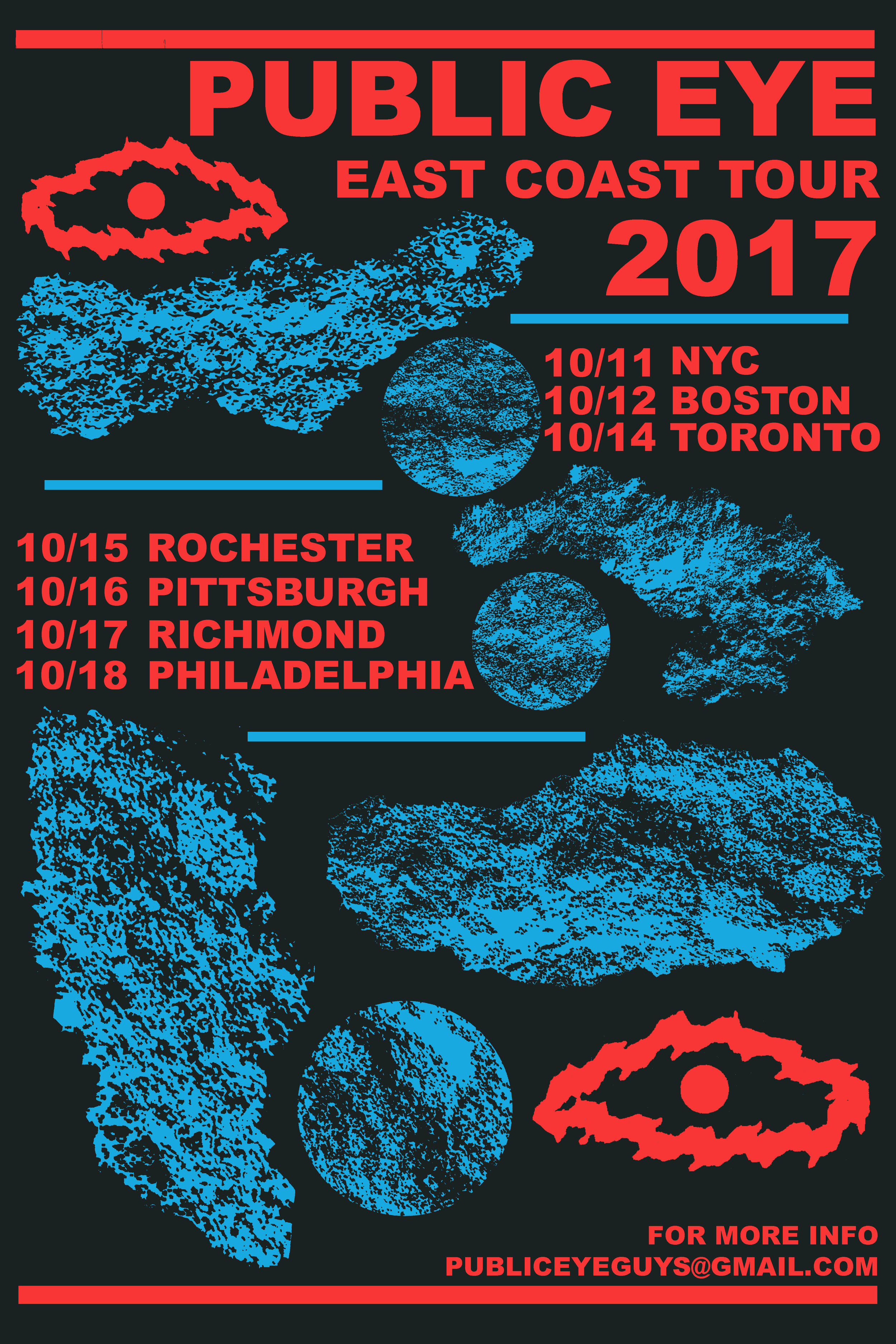 Poster for Public Eye (Portland, OR) East Coast Tour 2017