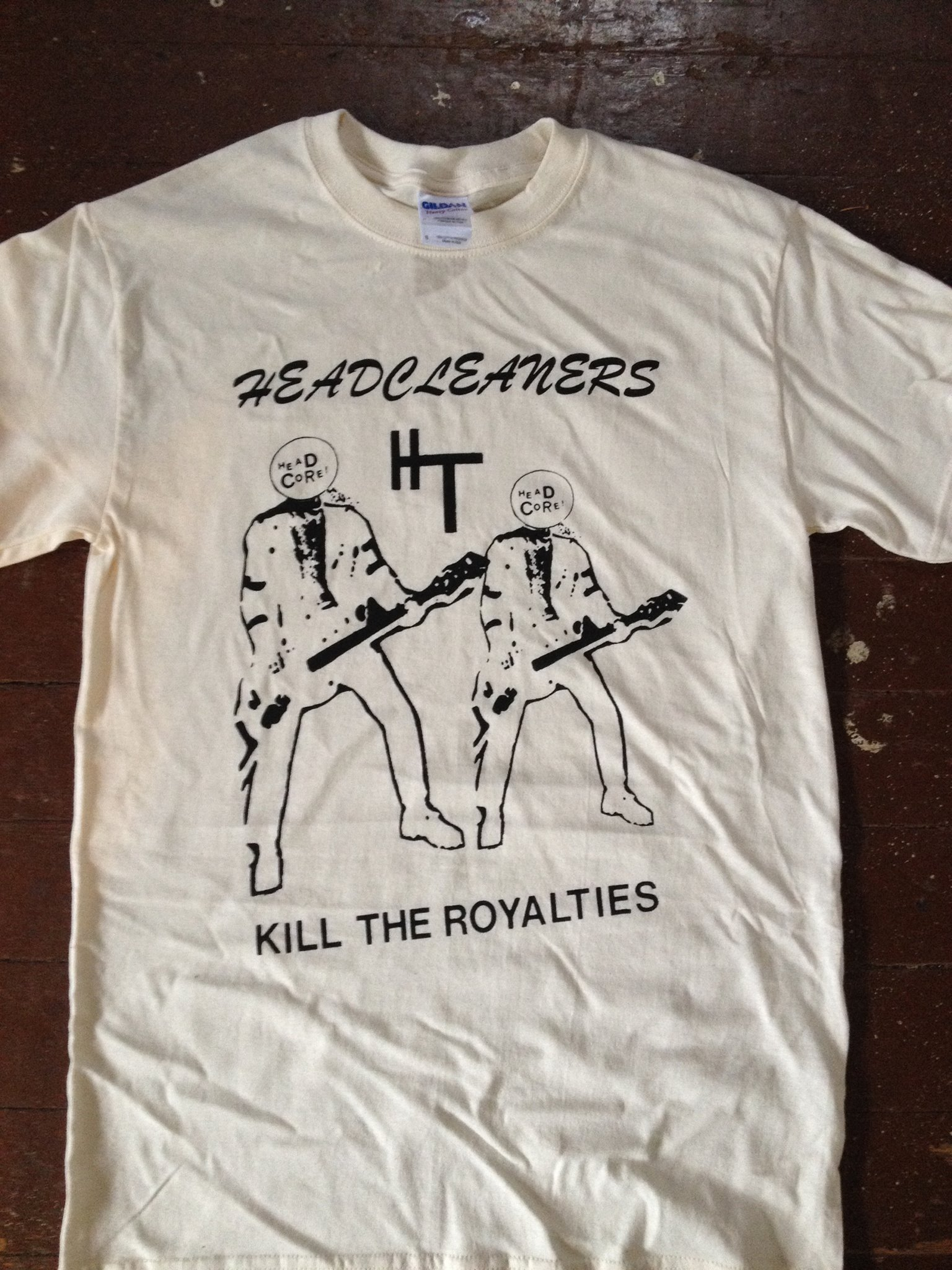 "Headcleaners ""Tribute"" shirt designed & printed in house"