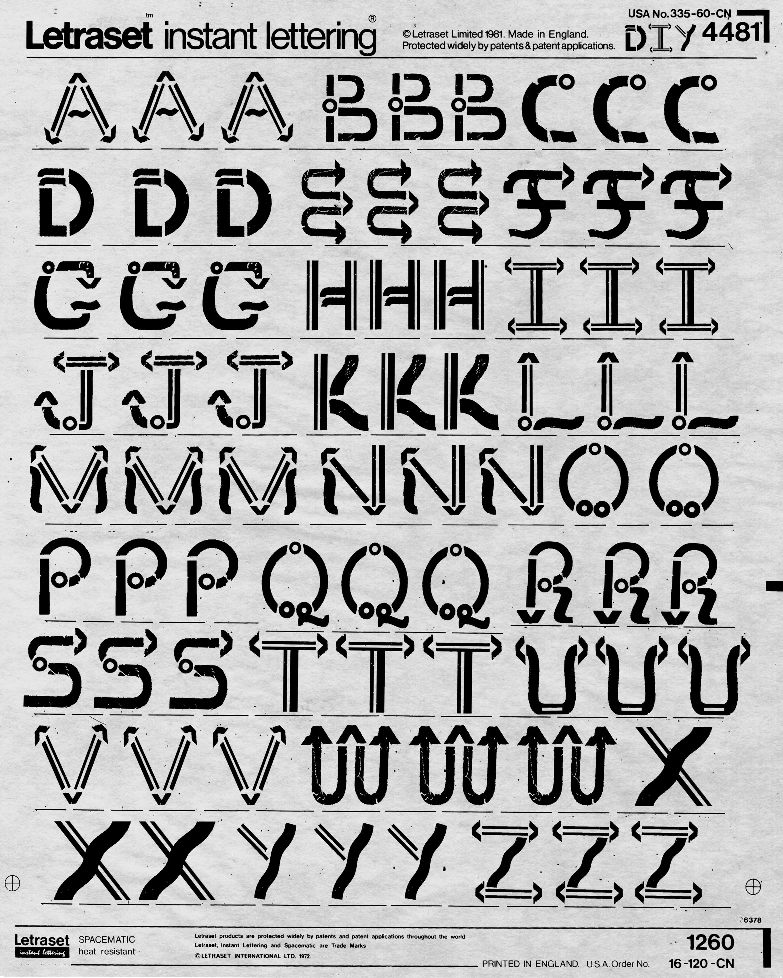 DIY Letraset Sheet