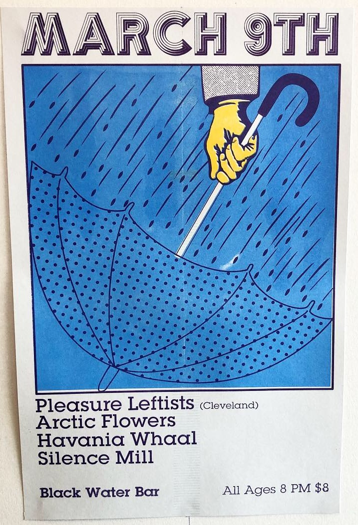 3-color riso print & design for Pleasure Leftists from Cleveland, OH. 2019