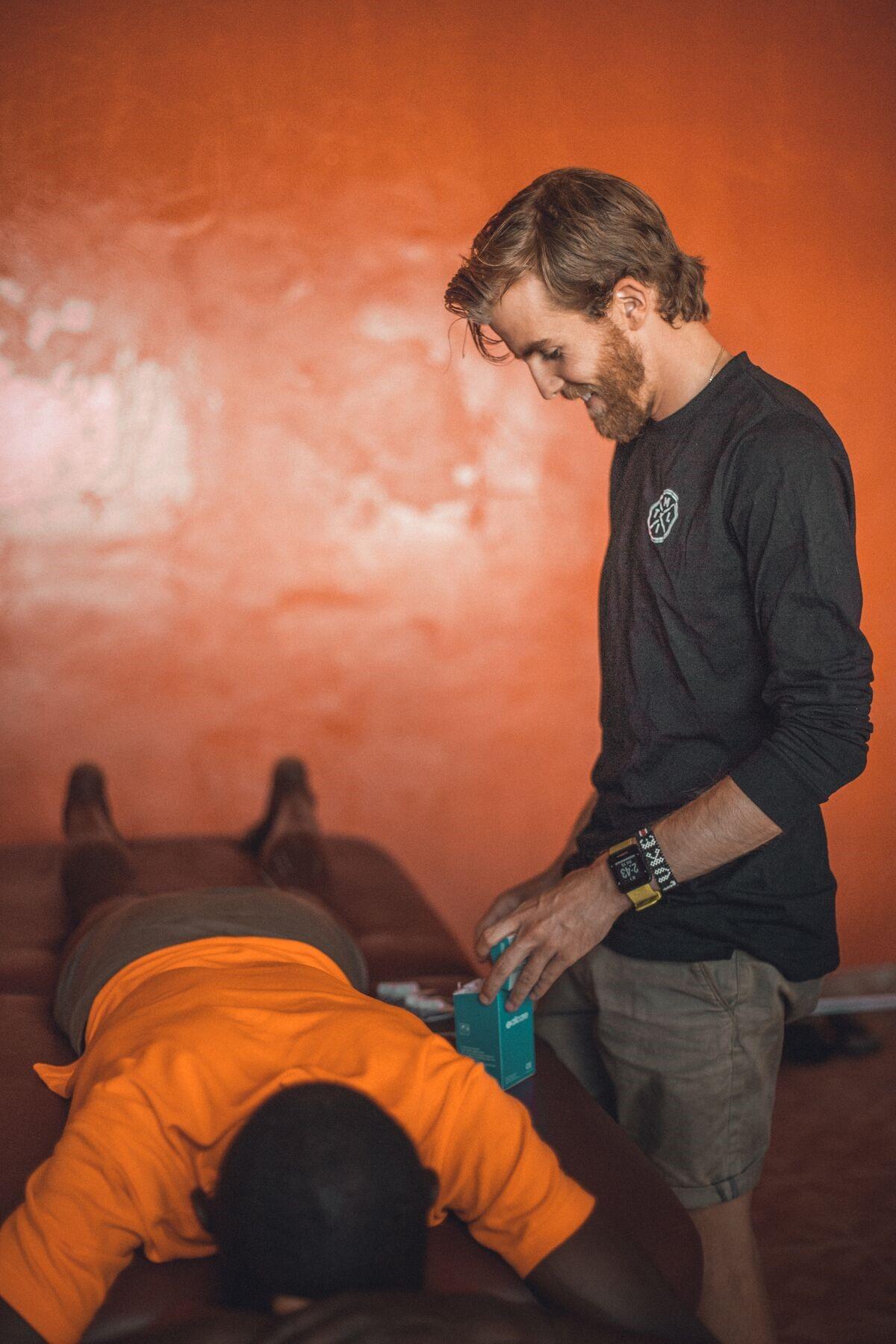 Luke McCallum at work in Kenya Photo: @ufnoof