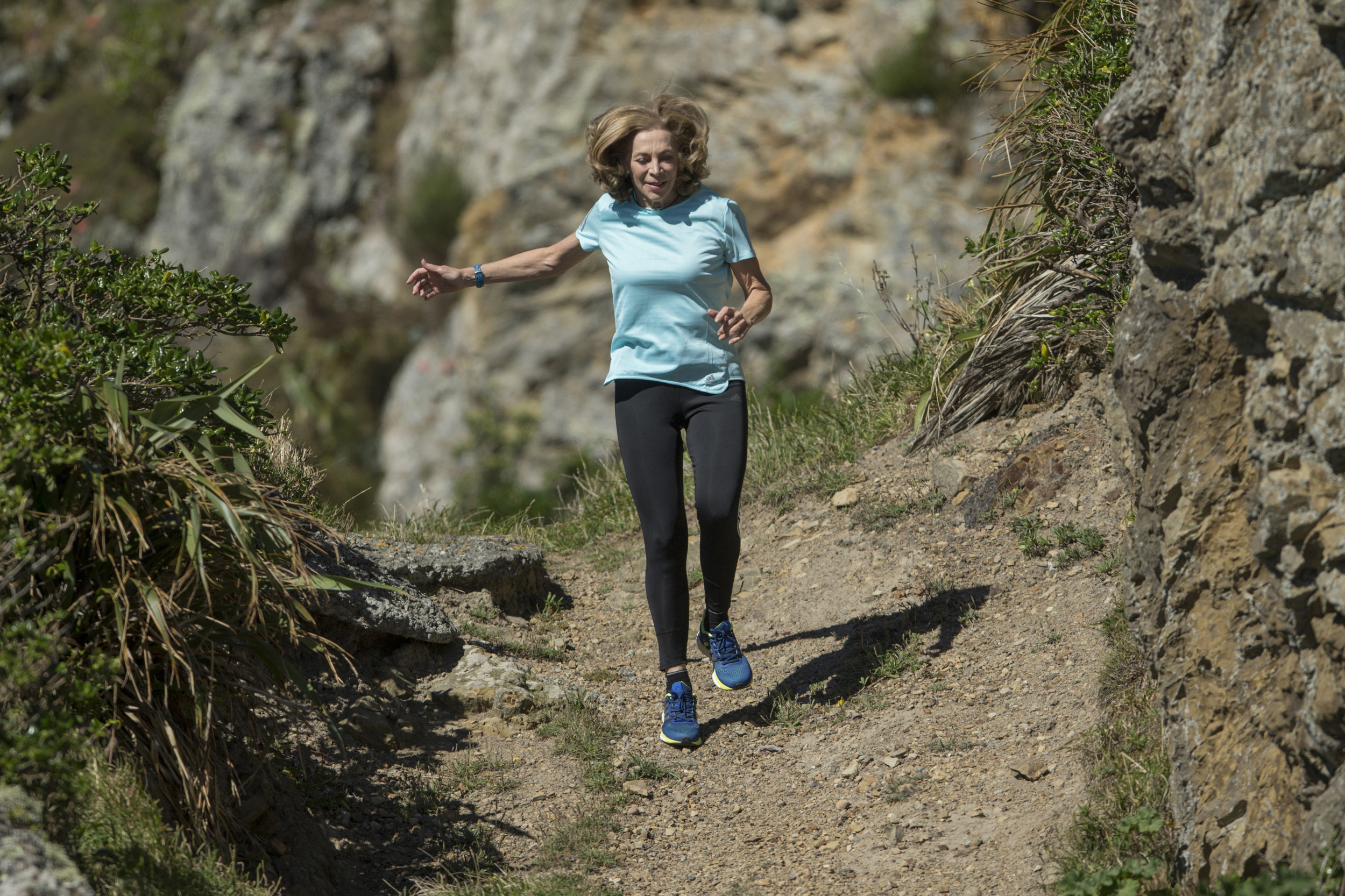 Kathrine Switzer - still running and loving life. Photo: Hagen Hopkins