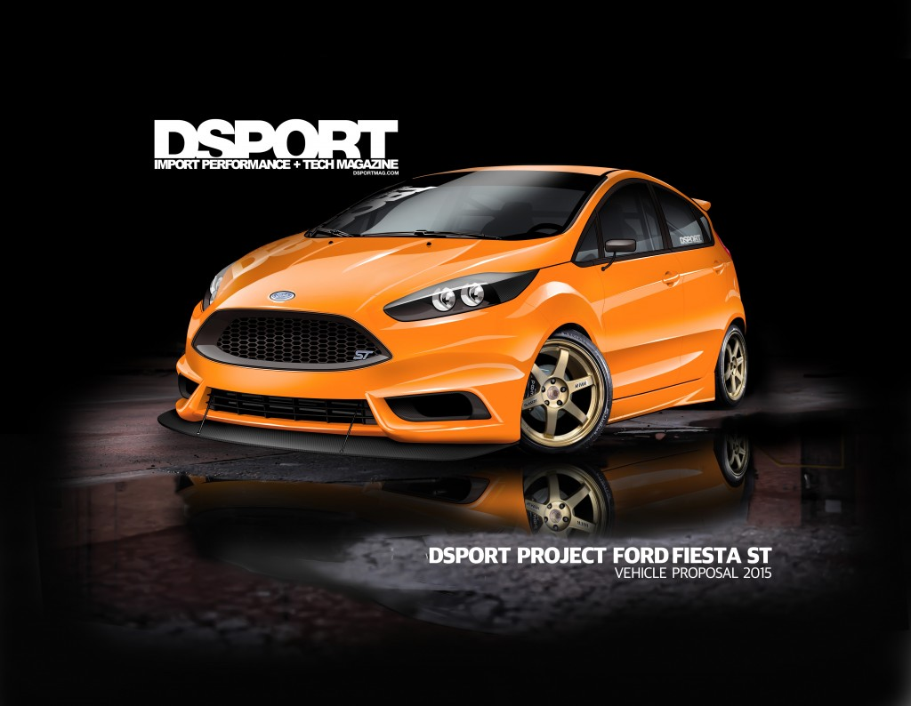 """Ford Fiesta ST by DSPORT Magazine DSPORT jumped into their project car with the idea of """"Exploring the 1.6-liter EcoBoost limits with a track-ready Fiesta ST."""" With plentiful modifications for the powertrain and chassis, this Fiesta ST has become a highly capable track machine, so capable its 1.6-liter EcoBoost engine could produce north of 400 horsepower at high boost levels. DSPORT has race-prepped this ST to compete in the Pirelli World Challenge Touring Car (TC) class where it will be restricted to only 300 horsepower per class rules."""