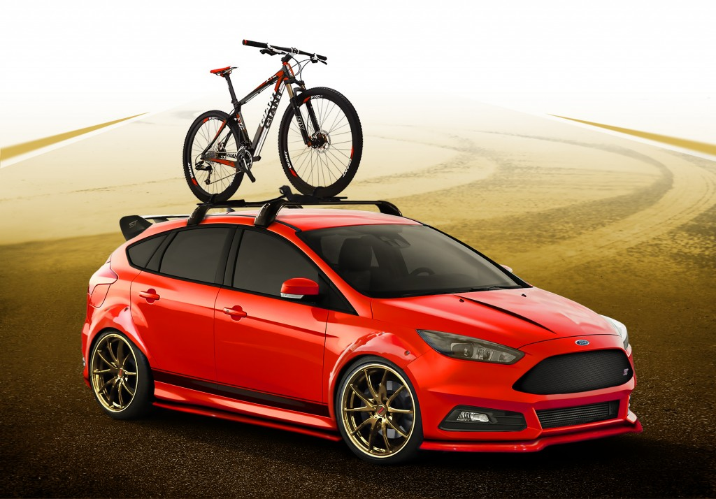 Ford Focus ST by COBB Tuning The Focus ST by COBB Tuning is the perfect vehicle for cyclists looking to get into the proper mindset before a race. With suspension and powertrain modifications this ST offers a spirited drive experience whether you are heading to your next race, training ride or just off to pick up groceries. The clean yet aggressive look of the custom COBB race red paint with gold Rotiform forged DUS wheels makes the ST look ready to tackle the track itself or just make you look damn good while hauling your bike.