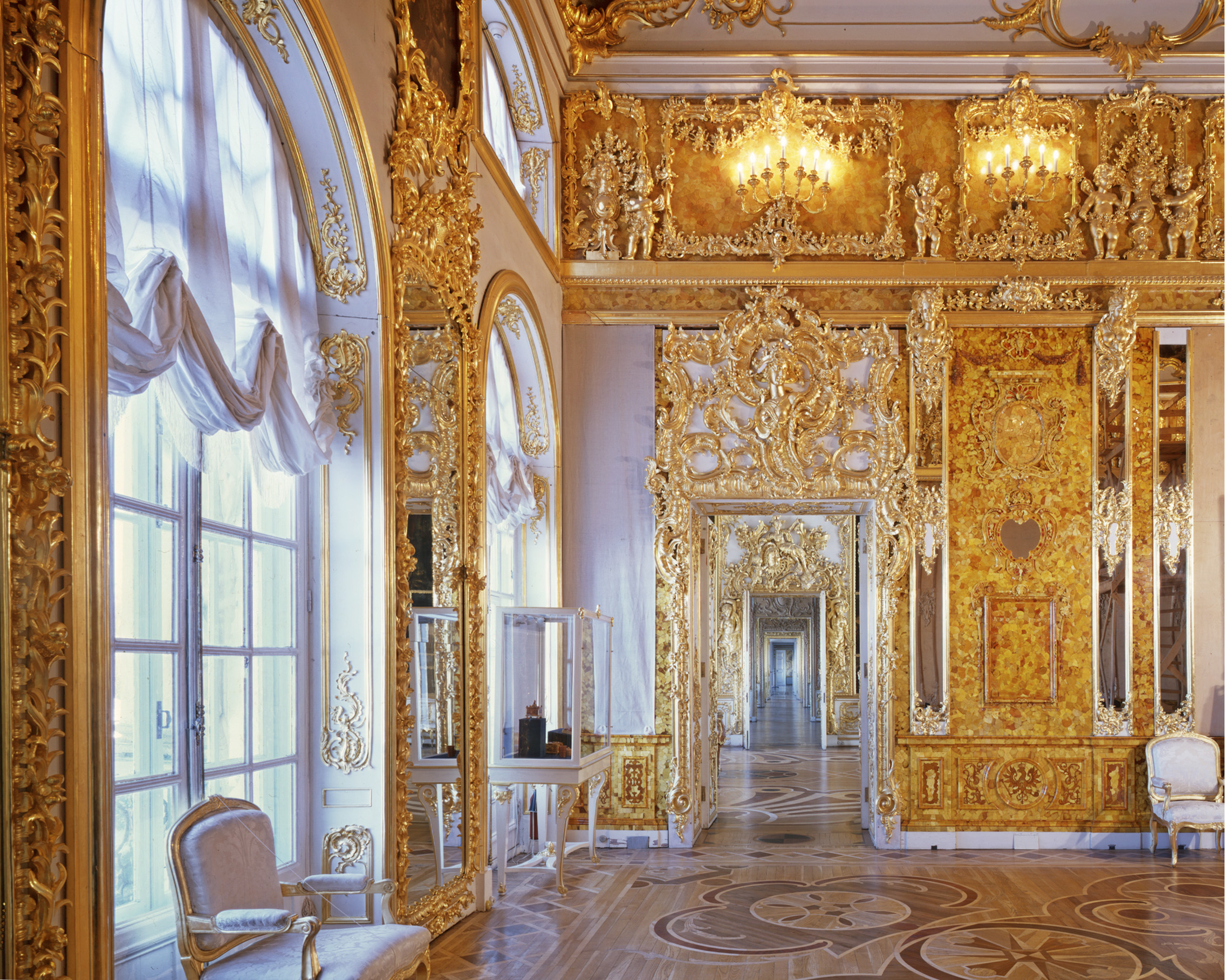 Chambre d'Ambre, Palais Catherine - Tsarskoïé Selo (Pouchkine) 2008