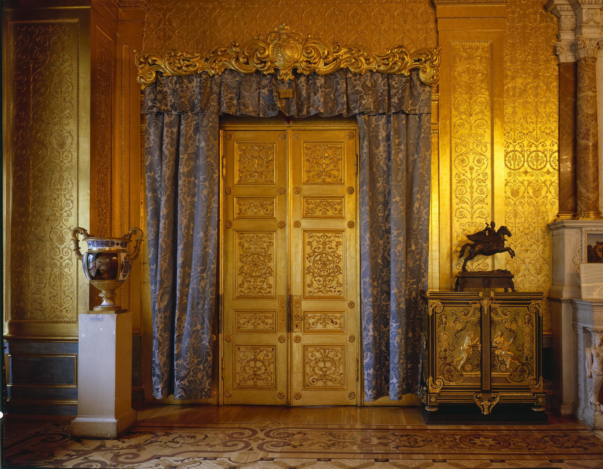 Salon doré,  Musée de l'Ermitage - Saint-Pétersbourg 2008