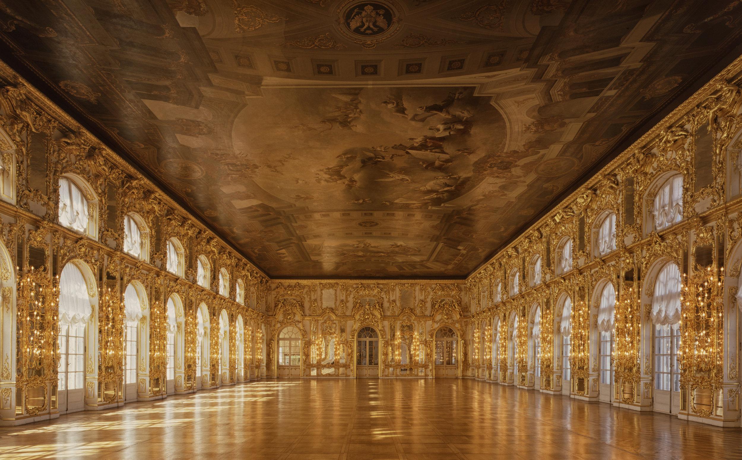 Gran Ballroom, Catherine Palace - Tsarskoïé Selo (Pouchkine), Russia (1995)