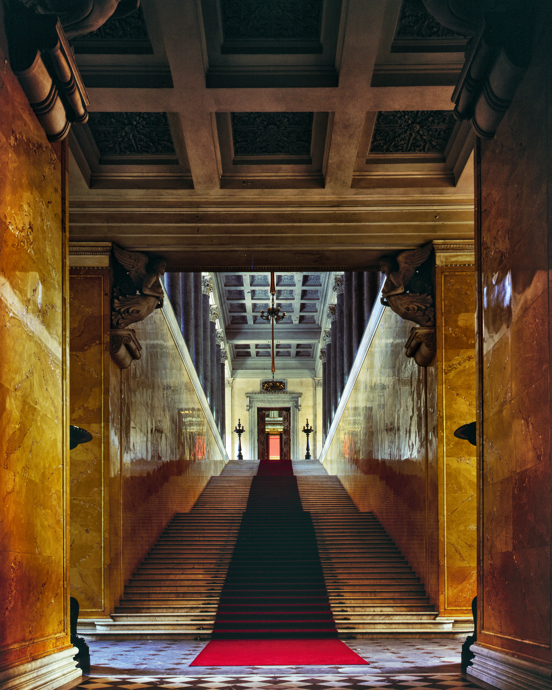 Entrance and Stairs of the new State Hermitage - - Saint Petersburg, Russia (1995)