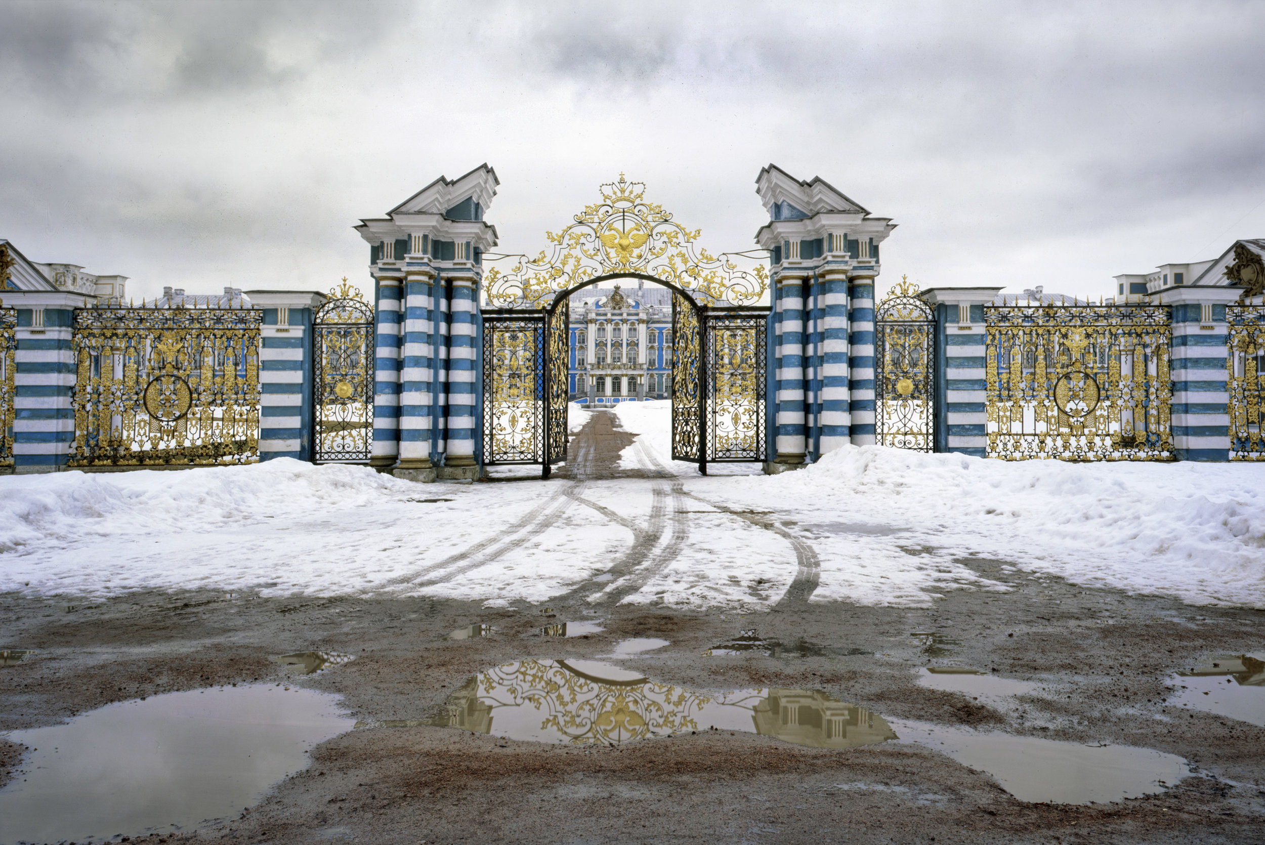 Golden Gate of the courtyard of Catherine Palace - Tsarskoye Selo, Russia