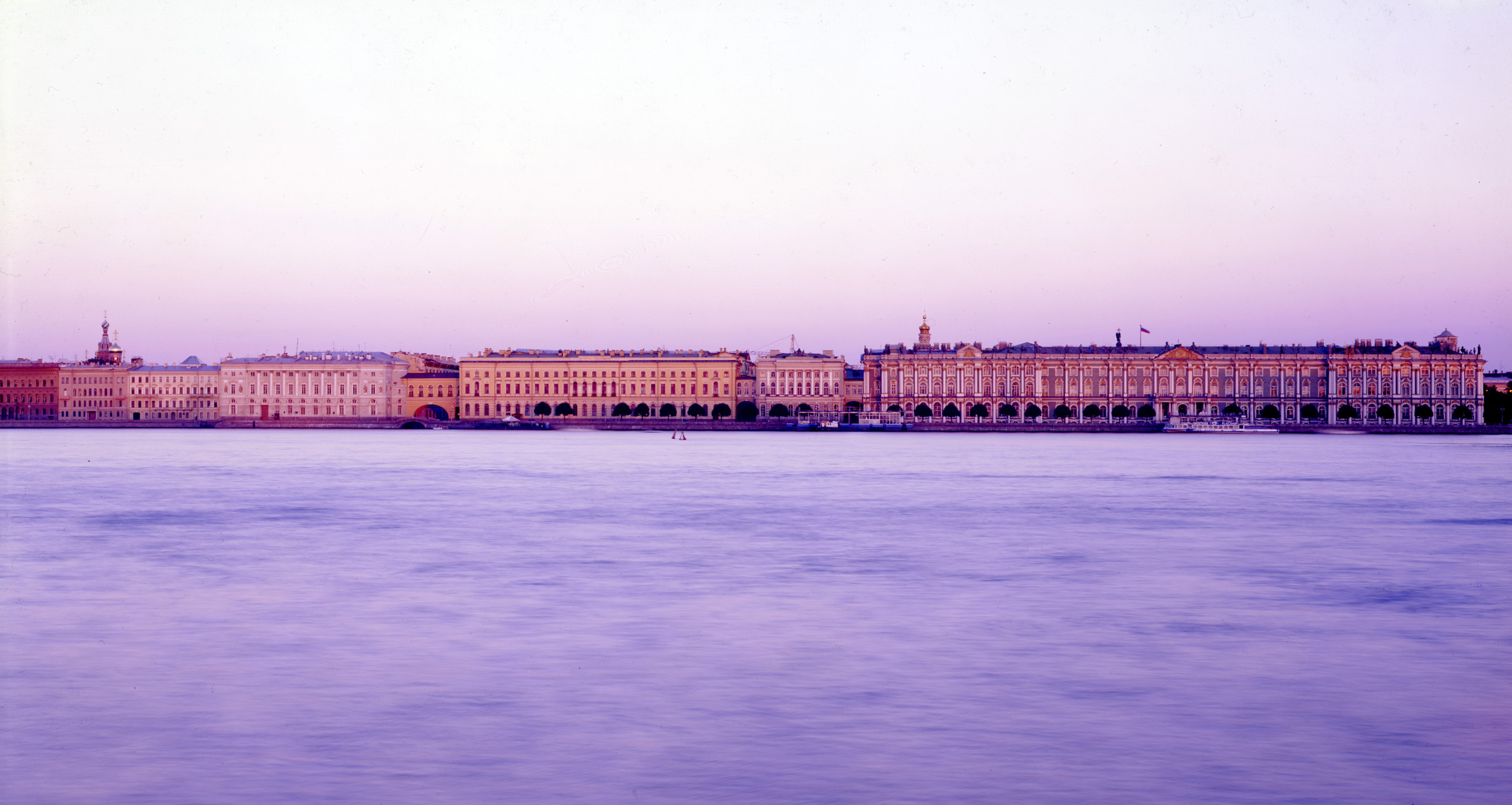 Hermitage Palace Embankement from Vasilyevsky Island  - Saint Petersburg
