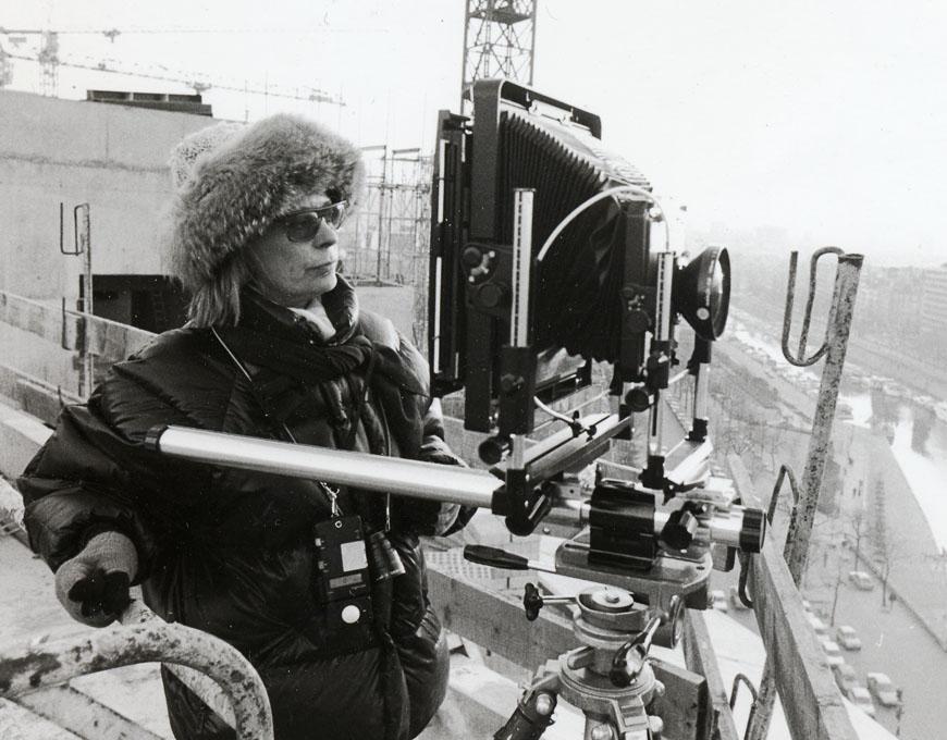 Shooting at the Opera Bastille under construction (Paris 1987)