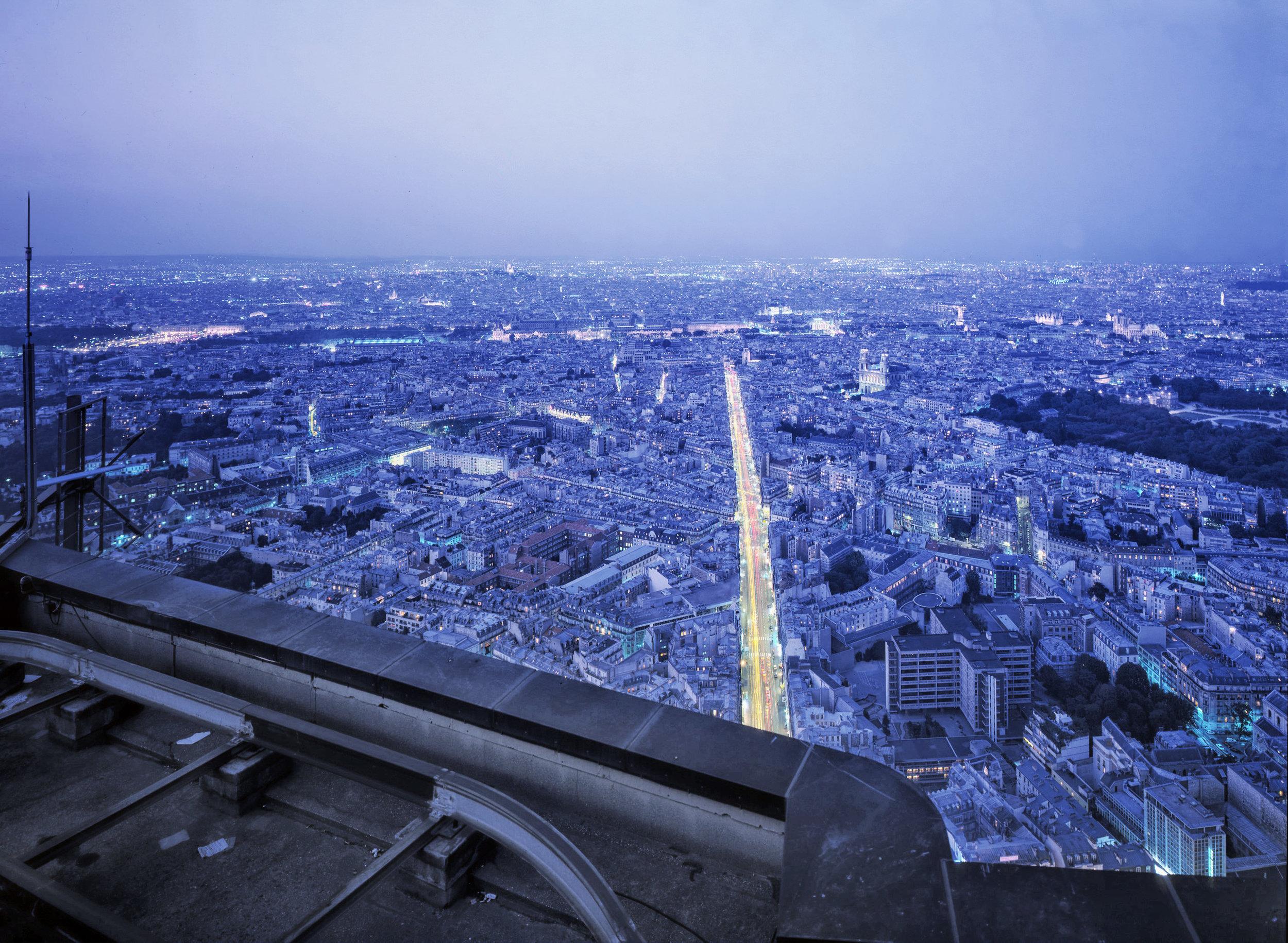 Paris from Tour Eiffel at Sunrise