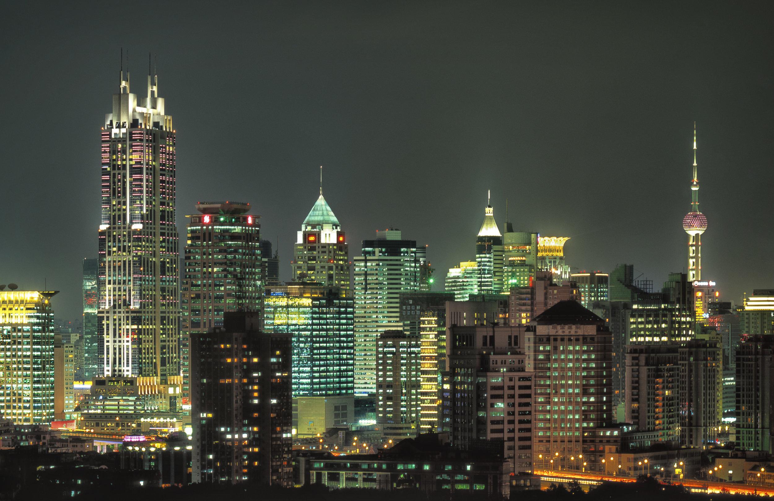 Night Skyline -   Shanghai, China 2001