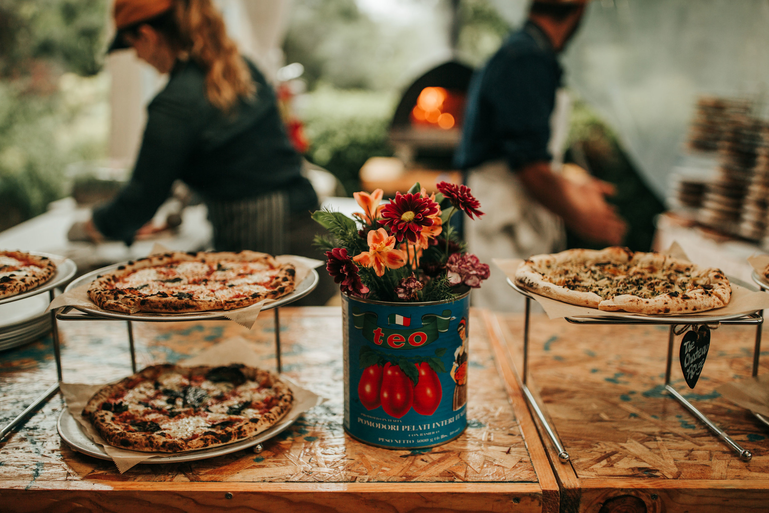 """Huria's Woodfired Pizza Pop-Up - Catch us at our weekly pop-up on Tuesdays and Wednesdays, from 1-7pm, exclusively at Stumptown Brewery in Guerneville, CA. Below is our pop-up menu, offering a variety of 10.5"""" pizza Napoletana."""