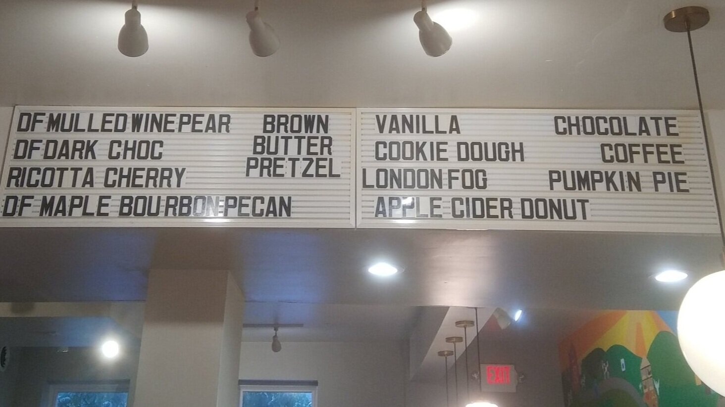 My goal? To try out all of these ice cream flavors.