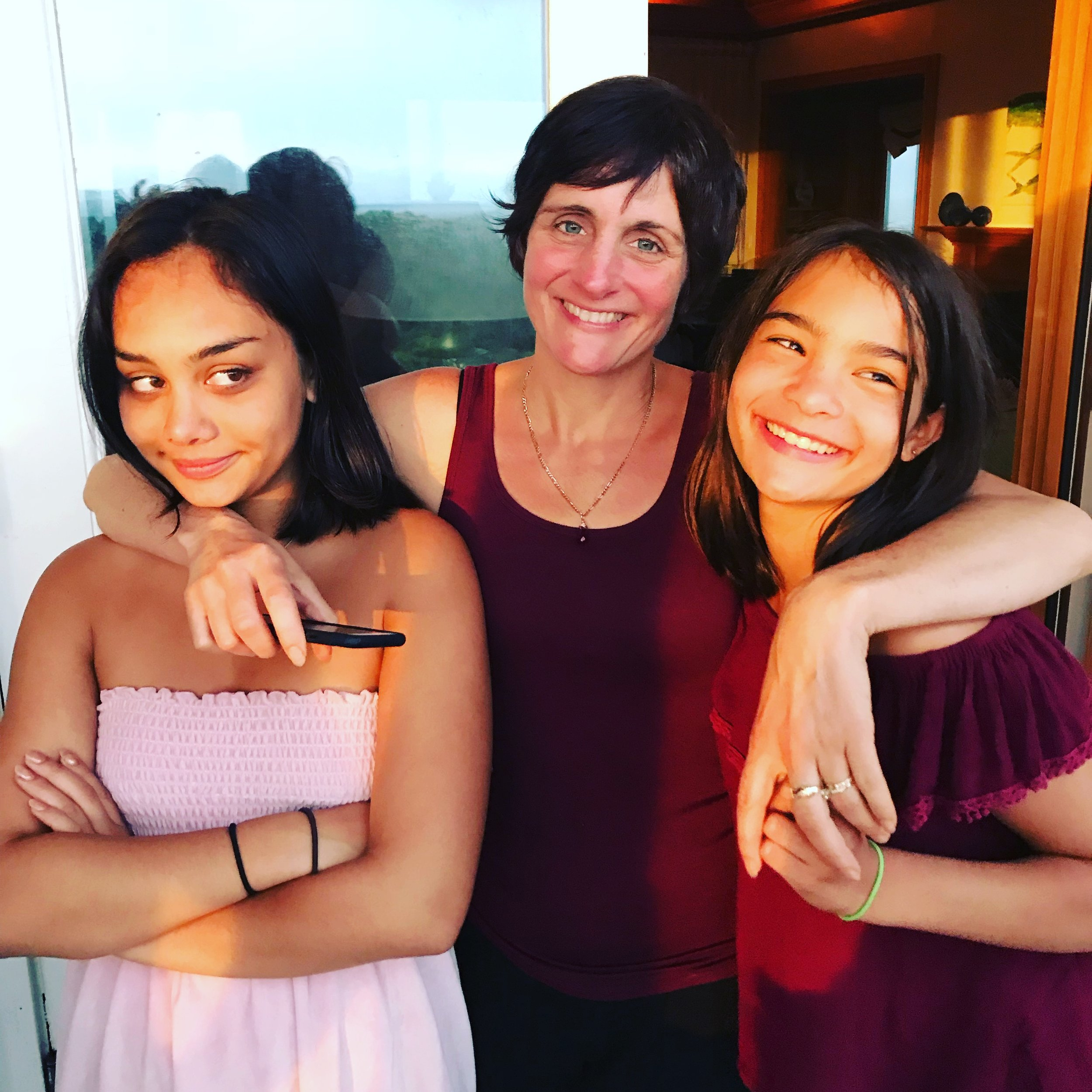 Summer 2018, me and the girls -