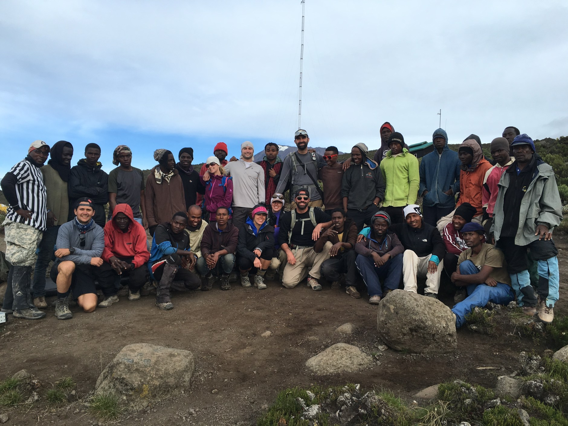 Our whole crew (7 of us, 26 porters and 3 guides)