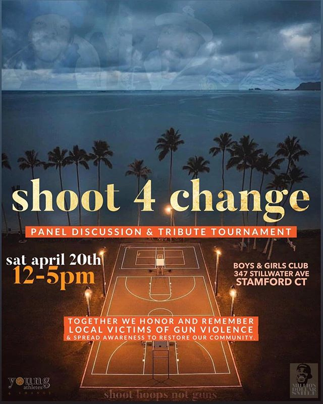 Saturday, April 20th at the Stamford boys and girls club to celebrate Max Antoine's two year anniversary we are acknowledging everyone who has lost their life to gun violence with a Panel discussion and following that will be the remembrance basketball tournament with special performances and Etc. Lets come together as a community to celebrate the lives of our loved ones... let's make change!🧡🧡🧡 BEAT ME THERE!!!!! Dm me for more information. Graphic design by @kaelafrancesca . . . #justiceformax #MillionDollarsmile #Shoot4change #420 #youngathletes4change #Hoops4All #togetherwestand #togetherwestandstrong #max2yranniversary #Letsmakechange #makeadifference #guncontrol #gunviolence #gunviolenceawareness #stopkillingeachother #connecticut #massachusetts #newyork #newjersey #philadelphia #chicago #losangeles #Standforchange #standupforchange