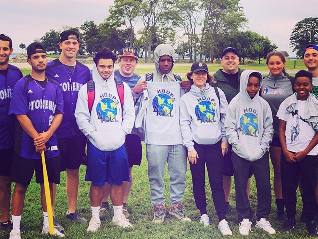 Check out these #YoungAthletes4Change spending their Saturday holding down #Hoops4All at a 62 team Wiffle Ball Tournament  in memorial of Christopher Sabia. #athleticsmeetactivism #youngpositivechangemakers #youthexcellenceonandoffthecourt