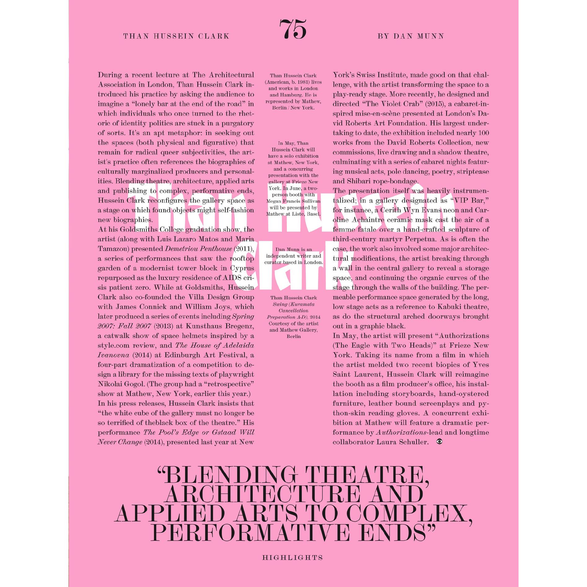 Than Hussein ClarkKaleidoscope - ARTIST PROFILE