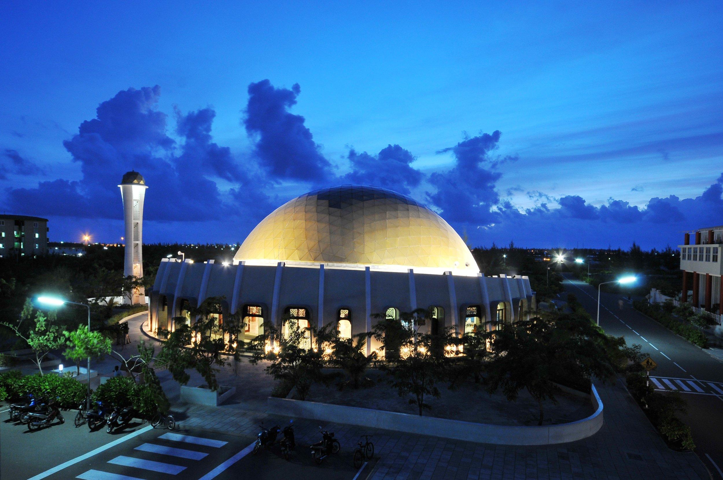 Hulhumale Mosque Interior. Maldives.