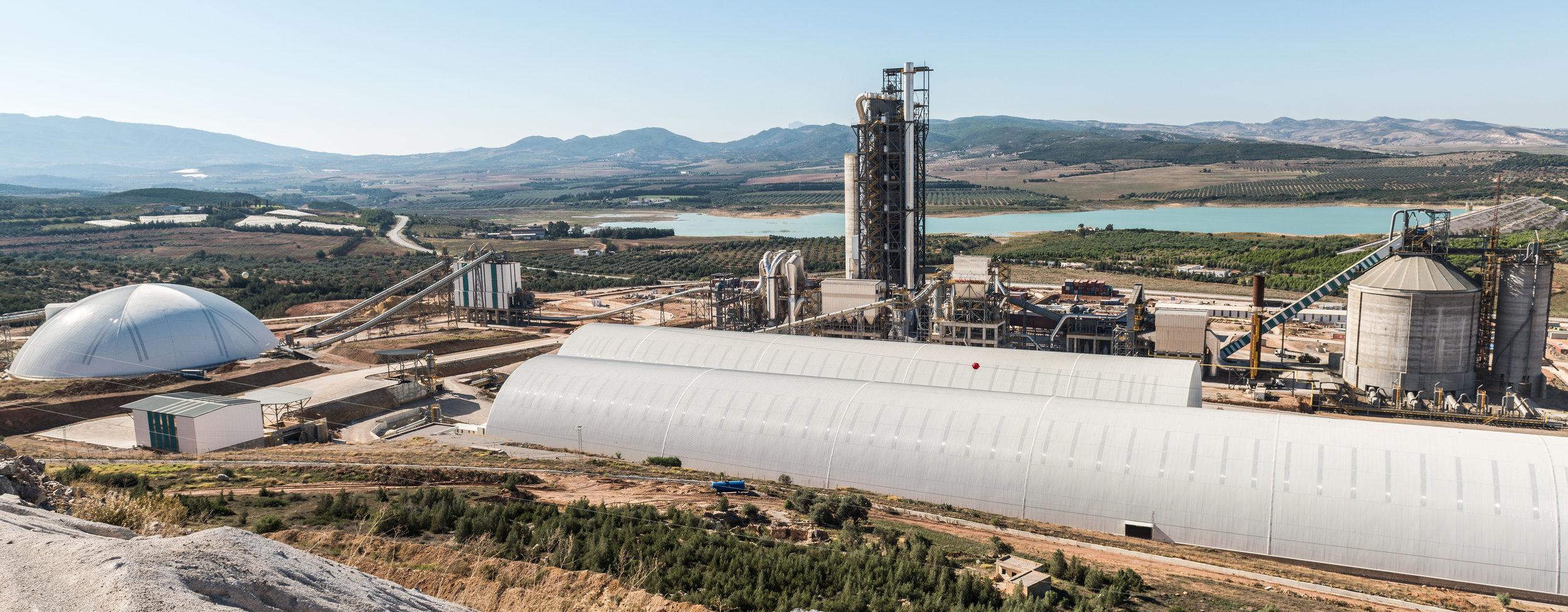 Cement plant with three Geometrica domes, Tunisia