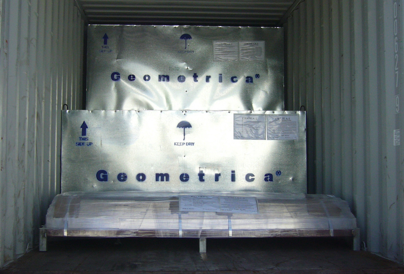 Materials are labeled before shipment for easy identification and addembly on site