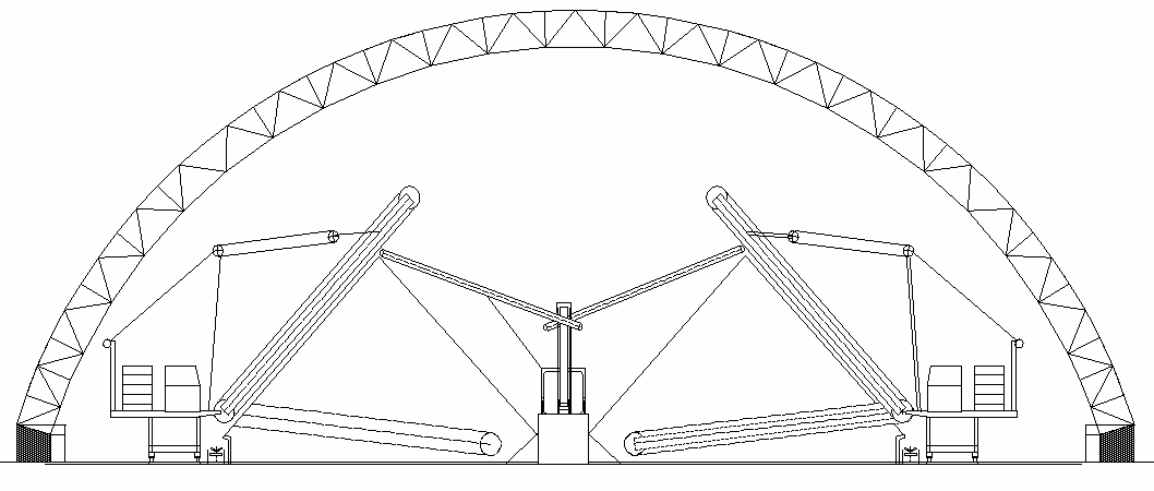 Circular: Ideal para cargas de viento altas.