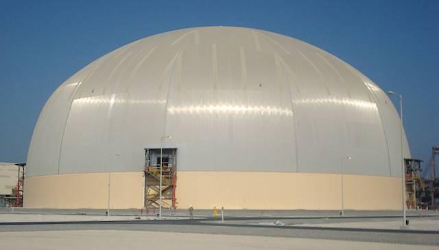 135m Geometrica dome for storing sulfur, Abu Dhabi, UAE