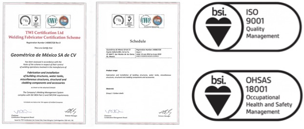 Geometrica earns safety and quality assurance accreditation as a premier dome builder.