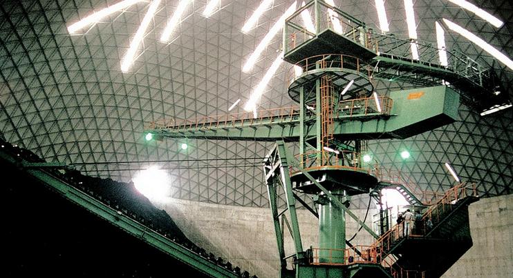 Domo de 66m para almacenar carbón, Tuntex, Taiwán