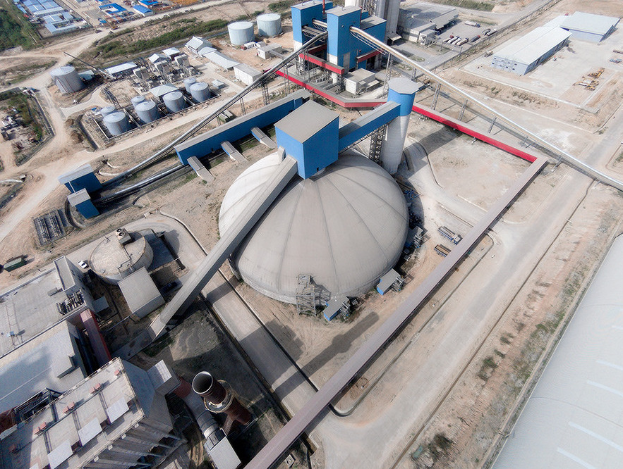 Edo Cement's dual clad dome for clinker storage