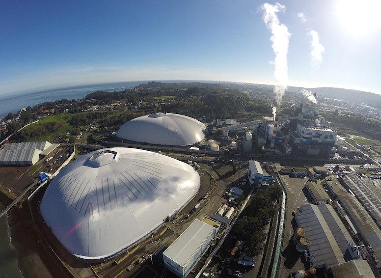 Bocamina tiene dos estructuras de forma libre Geométrica en Chile, extendiéndose más de 200m.