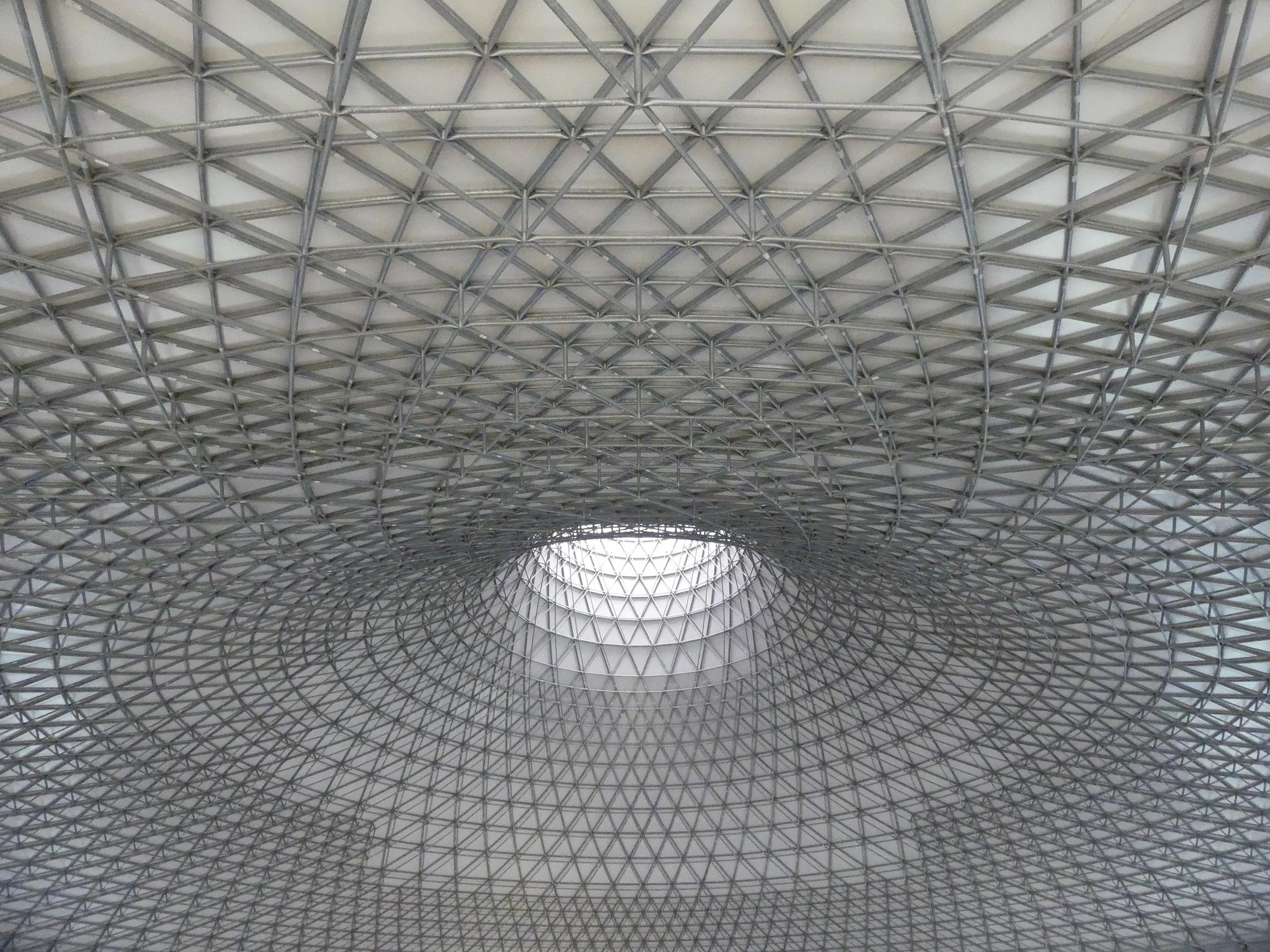 El sistema estructural Geométrica es ideal para las superficies de doble curva.