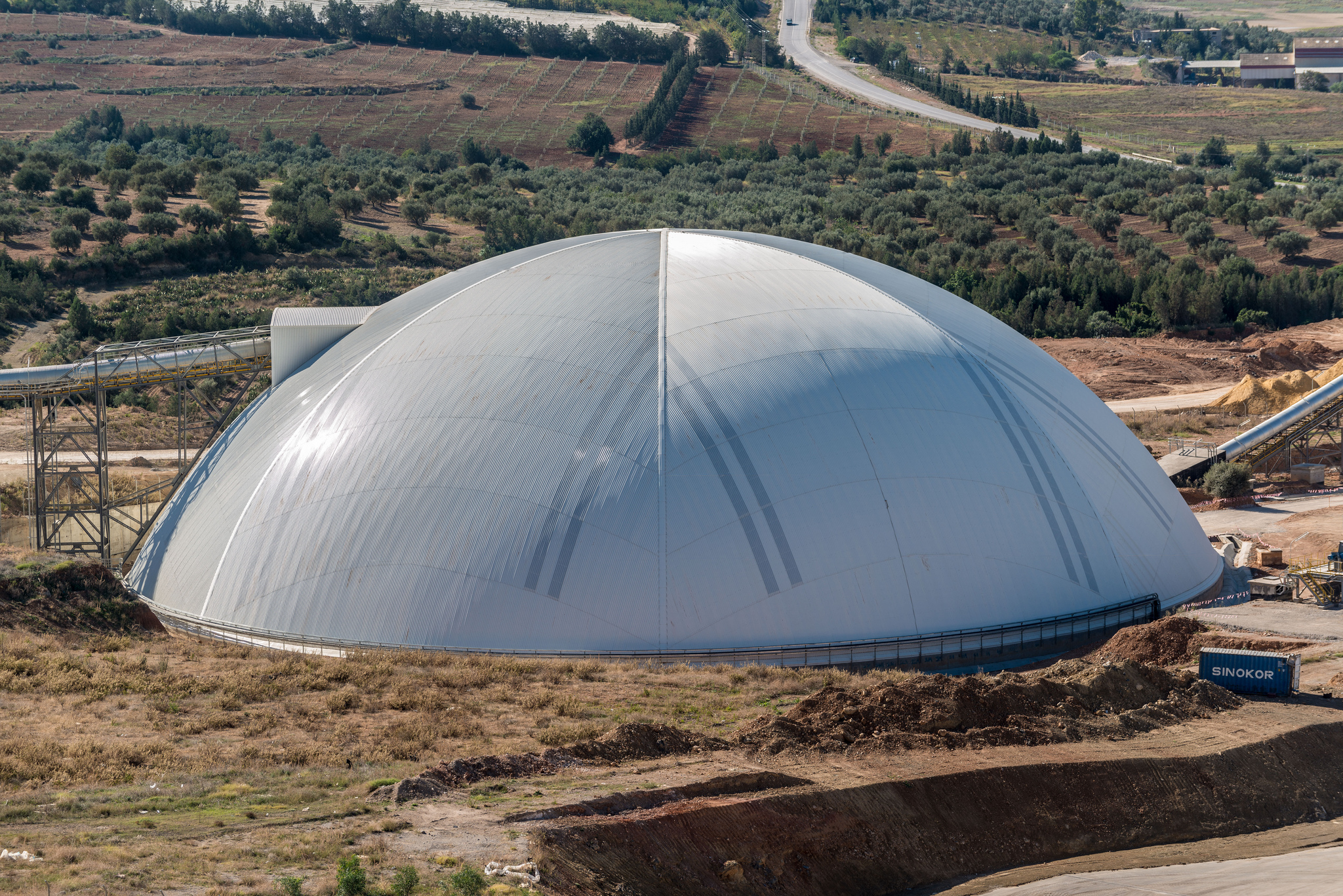 90m limestone storage dome.