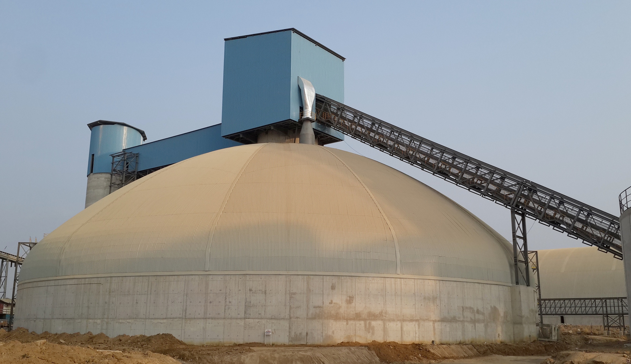 Clinker storage dome for Edo Cement in Nigeria.