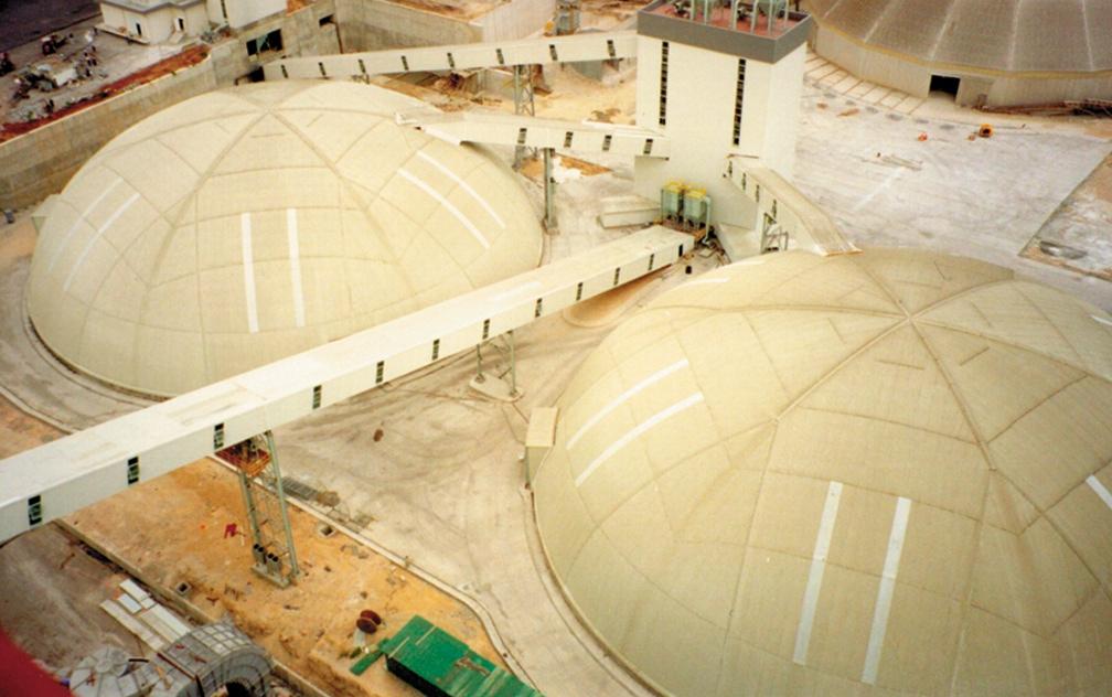 2 x 68m storage domes in Mersin, Turkey