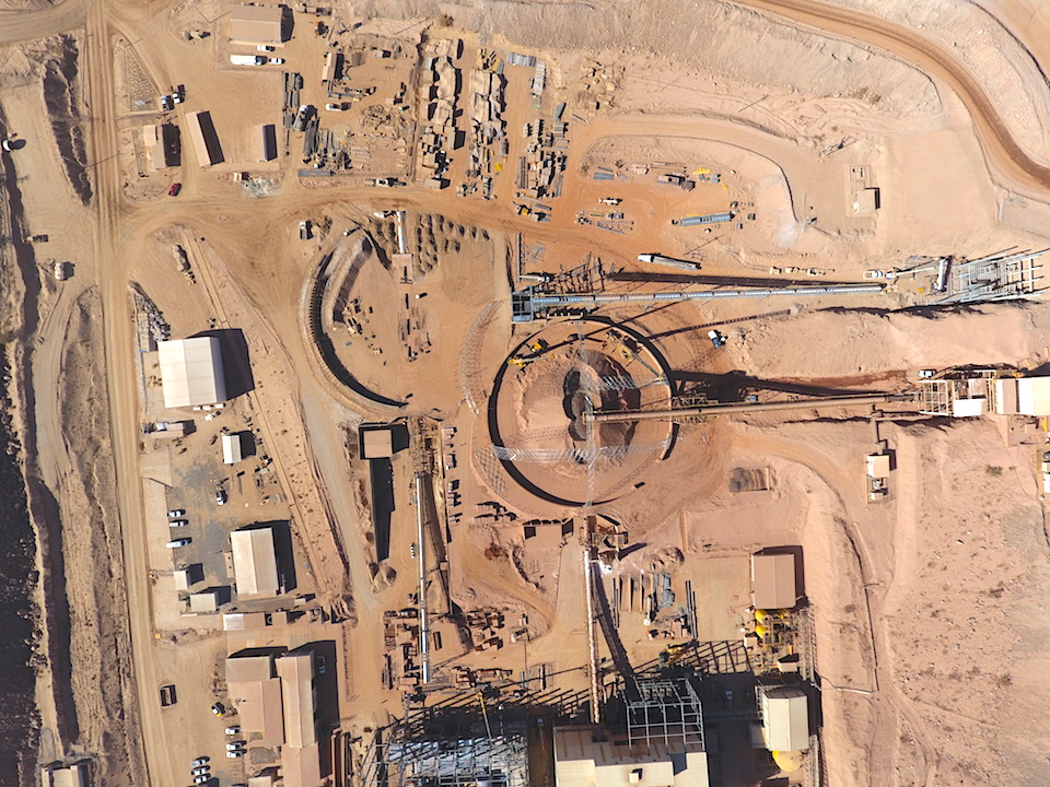 Aerial view of the site where the domes will be located.
