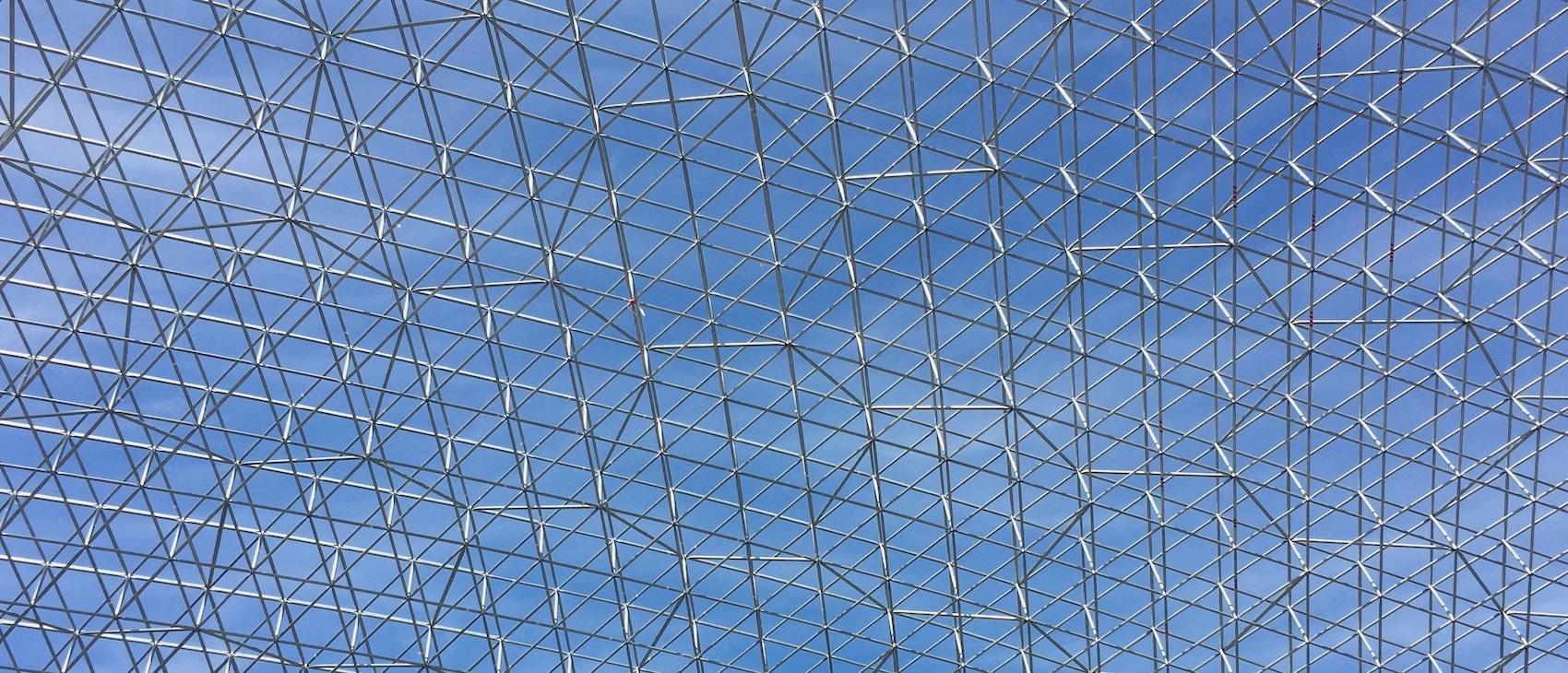 A vierendeel geometry with sparse diagonals was used in the largest free-style storage domes to date, the Bocamina domes