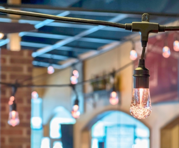 COMING SOONOld-world charm - We can help you create an instantly warm charm with our vintage Cafe lights.Our Edison bulbs are a great way to bring romance and pretty lighting into your wedding ceremony or event. An elegant ambiance with the sophistication of old-world charm.