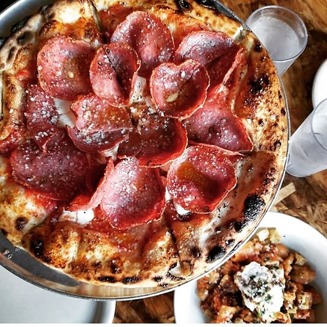What better way to enjoy a cold rainy night than spicing things up our Killer Bee pizza 🌶 🍯 🔥? . . . #spicy #sweet #hot #chili #pizza #pizzatime #nycpizza #nycfood #nyceats #nyc #ig #instagood #instafood #omnomnom #nyceats #bsquared
